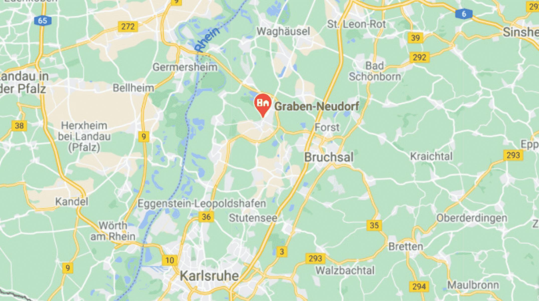Google Maps Karte Bruchsal Karlsruhe