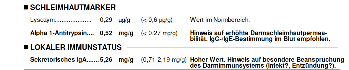 Enterosan sIgA und Alpha 1-Antitrypsin